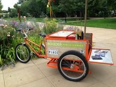 Boulder Public Library book bike   mobile or traveling libraries ...