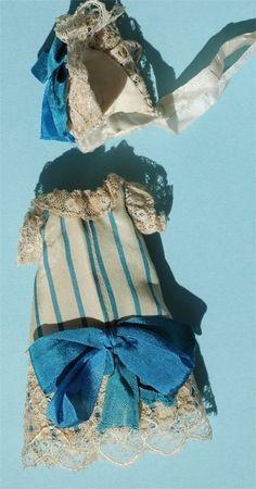 "French Blue Silk Ensemble for 5"" Mignonette"