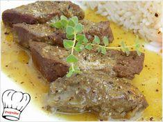 ΣΥΚΩΤΙ ΜΟΣΧΑΡΙΣΙΟ ΜΕ ΛΕΜΟΝΙ ΚΑΙ ΜΟΥΣΤΑΡΔΑ!!! - Νόστιμες συνταγές της Γωγώς!
