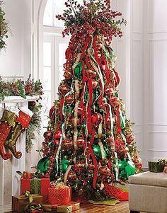 Ribbon Christmas Tree Toppers | ribbon tree topper | christmas deco