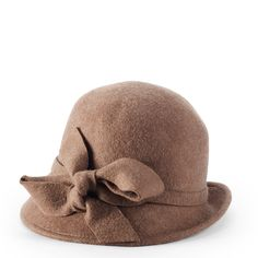Knotted Bow Cloche (Camel)