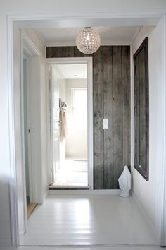 Gorgeous wood walls. Time to find some reclaimed barn wood... or just paint new wood with the pin on distressing wood I pinned before... Hmmm