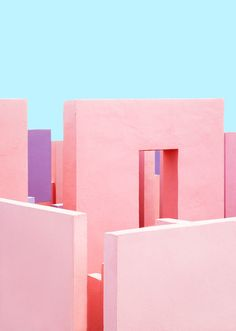 A visual exploration of the unique architecture of Ricardo Bofill's famous Muralla Roja in Calpe, Spain captured by photographer Jeanette Hägglund. Colour Architecture, Minimalist Architecture, Architecture Photo, Architecture Religieuse, Design Minimalista, Minimal Photography, Photography Blogs, Iphone Photography, Urban Photography