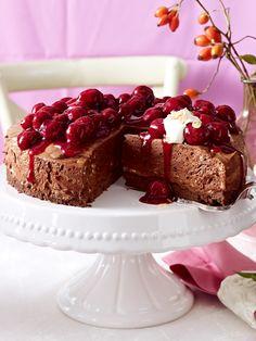 Ein Traum aus Schokolade:  Luftige Mousse-au-Chocolat-Torte ♥