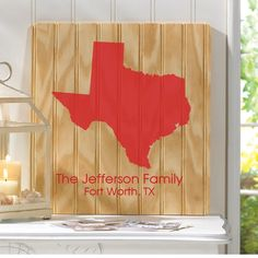 Whether it's your home state or just remembering a place you visited, our custom Personalized State Family Wood Sign is a great gift for yourself or someone special. Family Wood Signs, Personalized Wall Art, Fort Worth, Art Pieces, Great Gifts, Make It Yourself, Style, Beige, Swag