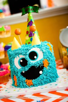 Fiestas Infantiles 91 Ideas de Cumpleaos Monsters Cake