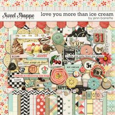 Love You More Than Ice Cream by Jenn Barrette. $7.50