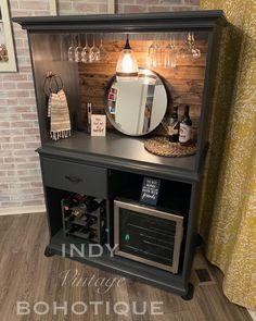 Refurbished Furniture, Bar Furniture, Repurposed Furniture, Furniture Makeover, Painted Furniture, Furniture Design, Redoing Furniture, Wine And Coffee Bar, Coffee Bar Home