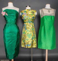 Three Silk Cocktail Dresses, 1958-1968