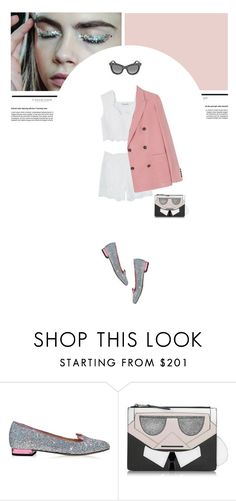 """Senza titolo #145"" by forzieri ❤ liked on Polyvore featuring Charlotte Olympia, Karl Lagerfeld and Jimmy Choo"