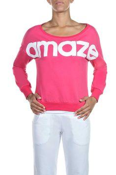 Μπλούζα με Λαιμόκοψη και Μακρύ Μανίκι, 19,80€. Graphic Sweatshirt, Women's Fashion, Sweatshirts, Sweaters, Tops, Fashion Women, Sweater, Sweatshirt