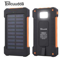Solar Power Bank Waterproof 10000mAh Solar Charger 2 USB Ports + LED Light  #au #saltlife #fishing #fishingboat #lure #apparel #@fishingtrendsnet #FishingCQ #Gonefishing #fishingreel