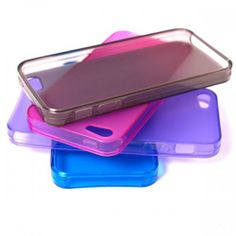 Fashion Clear Colored Frosted TPU Case Cover Protective Skin for iPhone 5 Multicolor