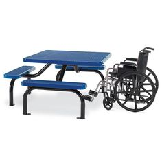 Ultra ADA Expanded Steel Table with 3-Seats | Picnic Tables | Upbeat.com