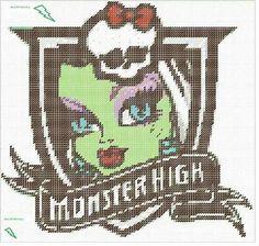 Monster High Frankie Stein crest wall hanging