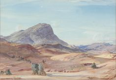Hans Heysen (1877-1968) • Haywood's Bluff • Watercolour • Herbert and May Shaw Bequest • 0759 #watercolour #painting Australian Painting, Watercolour Painting, Asian Art, Metal Working, Contemporary Art, Gallery, Prints, Collection, Metalworking