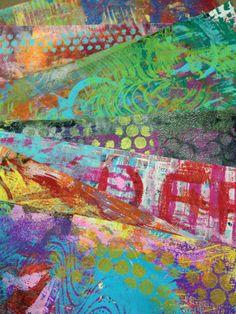 Diane's Mixed Media Art - Gelli prints I made...