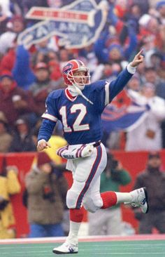 One of the all-time greats - Hall of Fame Quarterback for the Buffalo Bills - Jim Kelly.