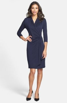 Free shipping and returns on Karen Kane Cascade Faux Wrap Dress (Regular & Petite) at Nordstrom.com. Always polished and endlessly flattering, a fluid jersey style features a elegantly draped front gathered to the nipped-in side.