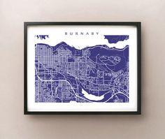 Burnaby Map Print