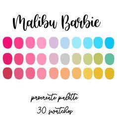 Hex Color Palette, Color Schemes Colour Palettes, Color Combos, Malibu Barbie, Colour Catalogue, Pink Paint Colors, Modern Colors, Color Swatches, Color Theory