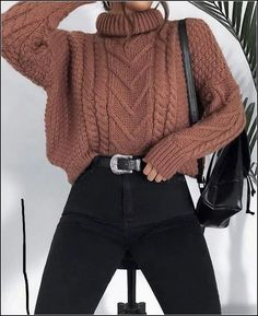 15 Trendy Autumn Street Style Outfits For This Year - fall outfits simple denim outfits fall fashion outfits, cute fall outfits fall outfits fall outfit ideas autumn outfits, 2019 fall fashion trends womens, fall fashion must haves, autumn outfits 2019 Winter Outfits For Teen Girls, Cute Casual Outfits, Winter Fashion Outfits, Sweater Fashion, Cute Fashion, Look Fashion, Autumn Outfits, Fashion Spring, Fashion Ideas