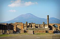 1111_Pompeii_003 Forum with Mt. Vesuvius in the background.