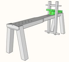 How to make your own Shaving Bench Green Woodworking, Best Woodworking Tools, Woodworking Furniture, Woodworking Projects Plans, Woodworking Horse, Pallet Furniture, Hand Carved Walking Sticks, Small Hinges, Making A Bench