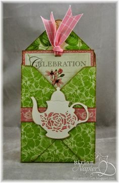 Pocket card from Graphic 45's Botanical Tea papers.