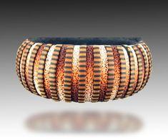 Stripy bangle made using FIMO Professional (©2014 Lisa Pavelka)