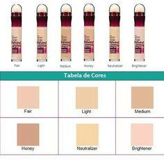 Maybelline corretivo the eraser shades Hair And Makeup Tips, Eye Makeup Tips, Makeup Kit, Love Makeup, Beauty Makeup, Maybelline Eraser Eye Concealer, Maybelline Makeup, Drugstore Makeup, Contour Makeup