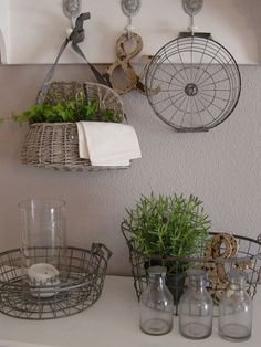 Mrs. K shabby chic | almost everything looks better when paired with a wire basket