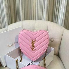 2016 Saint Laurent Bags Cheap Sale-Small Love Heart Chain Bag in Pink Matelasse…