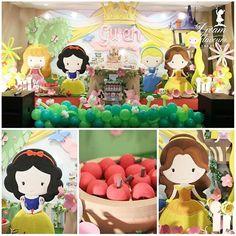 Linda festa de  #princesas  By @dreamflavours  #mae_festeira #festaprincesa #princess