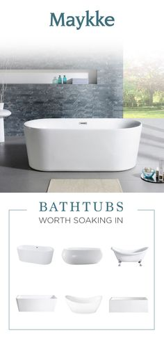Sit back and relax with these bathtubs from Maykke.