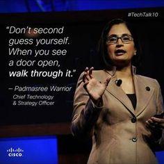 Padmasree recently spoke with Elle Magazine for a tech talk. We love her advice! #womenintech #techtalk10