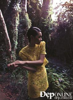 Ru Lòng Thôi Mơ for Đẹp Online. Dress by Anna Võ. Model: Thuỳ Trang. Photographer: TangTang.