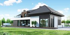 Projekt domu HomeKONCEPT 53 by HomeKONCEPT One Storey House, House Plans Mansion, Modern Villa Design, Home By, Home Garden Design, Design Your Dream House, Modern House Plans, Residential Architecture, Home Fashion