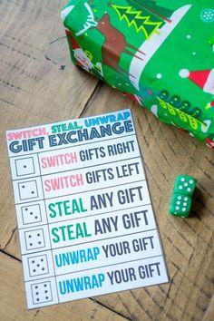 Nifty gift exchange game