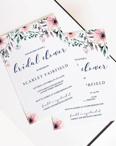 Bridal Shower Template Entrancing Watercolour Flower Bridal Shower Invitation Template 5X7  Bridal .