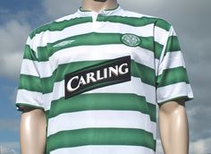 Celtic F.C. Home Shirt 2003-2004 ( UEFA Cup Final Style ) Replica Issue Short Sleeve