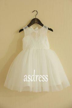 2015 New High quality A-line Tulle Flower Girl Dress by ASDRESS