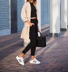 back to school with adidas superstar- Back to school outfit ideas http://www.justtrendygirls.com/back-to-school-outfit-ideas/ Más