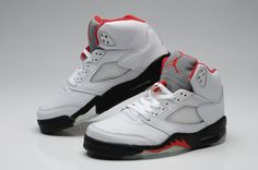 classic!! Air Jordan 5 (V) Retro Fire Red White/Black