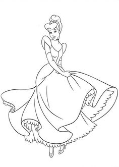 Disney Coloring Pages - Cinderella 2