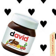 Personalized Nutella Jars by GoCreativeCatalyst on Etsy
