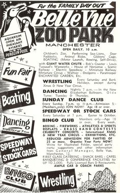 Belle Vue Zoo Manchester - saw amazing firework display in the sixties - might not have been as good as the memory but hey History Manchester, Manchester Street, Manchester England, Manchester Poem, Sweet Memories, Childhood Memories, Old Pictures, Old Photos, Bolton England