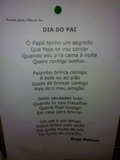 Poema dia do pai Diy And Crafts, Crafts For Kids, Papi, My Father, Fathers Day Gifts, Activities For Kids, Daddy, School, Verses
