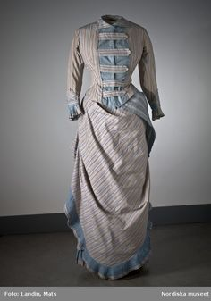 fashionsfromhistory:  Day Dress c.1880s Nordiska Museet