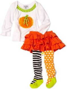 Mud Pie Baby-girls Infant Pumpkin Skirt Set